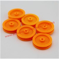 10 pcs/lot 2*17mm Yellow Plastic gear Belt Pulley DIY Micro Motor Transmission Parts Gear Box Mating Parts