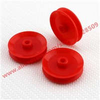 5 pcs/lot Concave wheel DIY Parts Model of the wheel  29 mm Red ABS Belt Pulley Model Mini Belt Transmission Pulley
