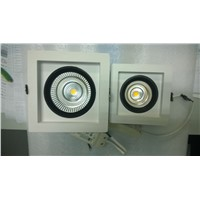 high power 40w LED Recessed Square flat ceiling downlight fixture with fine white coating &