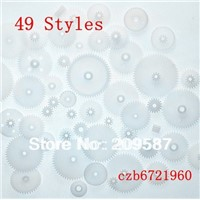 49 styles Plastic Gears All Module 0.5 Robot Parts for DIY NEW