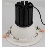 high power 8inch adjustable emitting angle 60w down lights with very nice powder coating white