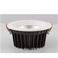 high color rendering COB delicate appearance recessed commercial  led 8inch 40w downlights
