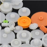 78pcs Mixed Plastic Gear Motor Gearbox DIY Car Robot Model Four Wheel Toy Drive Car Axle Belt Pulley Wheels Fix Repair Kit