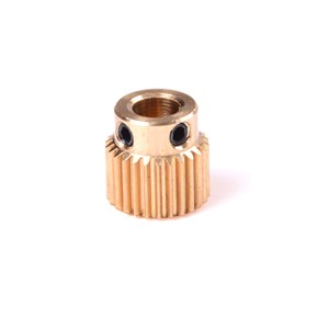 1Pcs Mini brass Printer 26 tooth Gear For DIY New 3D Printer Extruder Accessories 26T 11mm x 11mm