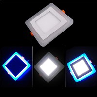 Super Bright 24W LED Panel Ceiling Llight Square LED Recessed Lighting Fixture Living Room Decoration Lamp Bulb + drive