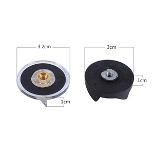 Black and Transparent Replacement 2 Base Gear and 2 Rubber Blade Gears Spare Parts for Magic Bullet 250W Juicer