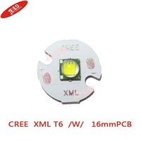 5PCS Cree XM-L t6 White Color 10W LED Emitter Bead mounted on 16mm Star  PCB