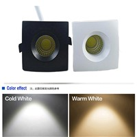 4Pcs 3W COB dimmable Square LED Ceiling Downlight Recessed LED Wall lamp Spotlight AC110V-240V With LED Driver For Home Lighting