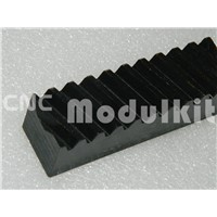 Mod 3 Helical Gear CNC Plasma Rack 30 x 30 Length 1000mm / 39.37'' Black Oxied 45# Steel Drill Holes In Stock By CNC Modulkit