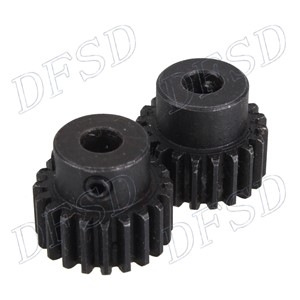 2 pcs 6.35mm Hole Diameter Motor Metal Gear Wheel Modulus 1 20 Teeth Steel Gear