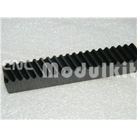 CNC Plasma Transmission Helical Gear Mod 2 Rack 20 x 20 Length 1000mm / 39.37'' Black Oxied 45# Steel Drill Holes CNC Modulkit