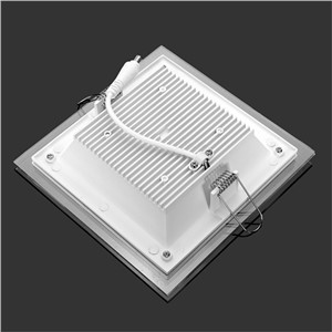 20pcs/lot Dimmable LED Panel Downlight Square Glass Panel Lights Bright Ceiling Recessed Lamps For Home SMD5730 AC110V AC220V