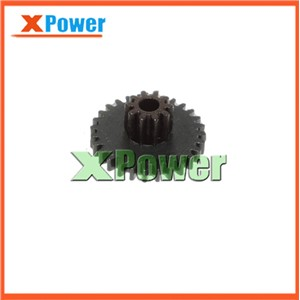 Wholesale 5pcs M0.5*28T+10T Mini Motor Gear Inner Diameter 2.5mm 0.5 Modulus 10 Tooth Motor Accessories Metal Gear