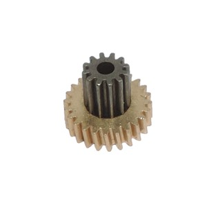 5pcs/lot M0.5 * 24T+12T deceleration motor double gear
