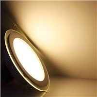 Hot Sale LED Recessed Panel Light Dimmable SMD 5630 Celing Lamp Round Spot Lights Lamps LED Panel Downlight With Glass Cover