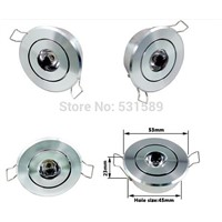 20pcs/lot high lumens 1W/ 3w No dimmable/dimmable led downlight Aluminum Material