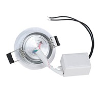 3W RGB Ceiling Downlight AC85-265V Control Switch Colorful Lighting Lamp Living Room Stage Lighting Decoration