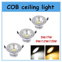 LED COB  Down Light  ceiling lamp LED Spotlight  COB  5W 7W 9W 12W 15W LED ceiling lamp