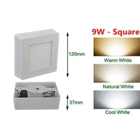 9W Square Surface LED Ceiling Light Panel Light Down Light 85-265V LED indoor Light +Driver