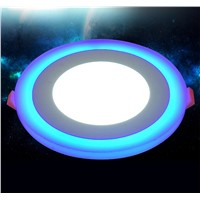 ultra led Panel Down Light 6W 9W18W 24W 3 Model LED Lamp Recessed Ceiling Lights Double Color Indoor Lighting Bulbs