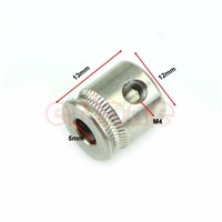 MK7 Stainless Steel Extruder Drive Gear Hobbed Gear For Reprap 3D Printer #L057# new hot