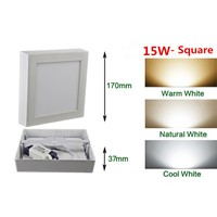 15W Square Surface LED Ceiling Light Panel Light Down Light 85-265V LED indoor Light +Driver
