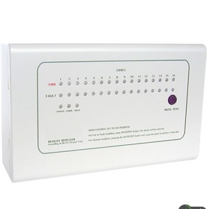 Repeater Panel 16 zone   Repeat display panel  work with  Conventional Fire Alarm  Panel by RS485