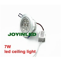 7w brush silver round recessed ceiling led down light for kitchen