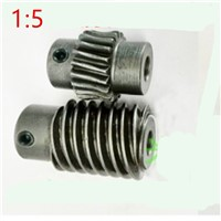 1M -20T 45#steel Speed ratio 1:5 worm gear Worm gear reducer transmission parts