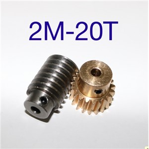 2M-20T reduction ratio:1:20 copper worm gear reducer transmission parts  -gear hole:12mm  rod hole:10mm