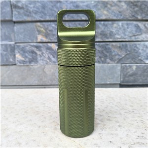 Keychain Bushcraft Waterproof Cans Emergency First Aid Survival Pill Bottle EDC Cigarettes Tank Box climbing Gears,camping kits