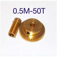 0.5 mold 50Teeths  Worm Gear High Speed Reduction Ratio 1:50-Remote Control Toys Steering Gear Worm Gear Combination