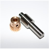 0.5M-20Teeths   Gear Diameter:11.2mm  Inner Hole:4mm  Rod L:33MM Stainless Steel Worm Gear