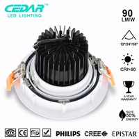 High Quality CRI>90 6inch 15w Recessed led saa downlights