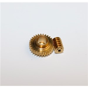 Diameter:9.6mm   Minimum 0.3M-30T  Copper Worm Gear+Worm Rod  Miniature Combination Electric Motors Remote Control Model