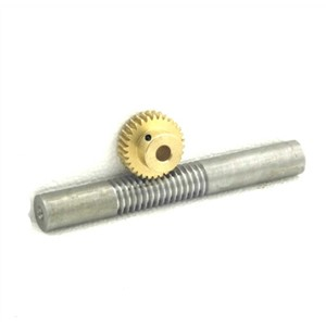 1M-20teeths Metal copper worm gear +steel worm rod reducer transmission parts -1(gear hole:5mm)