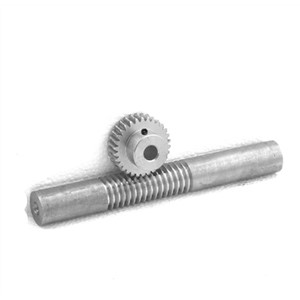 1M-25teeths Metal steel worm gear + worm rod reducer transmission parts -1(gear hole:5mm)