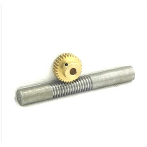 1M-60T Copper worm gear + worm rod reducer transmission parts -1(gear hole:10mm)