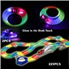 Flexible Glow race track Create A Road Diecast with 2PCS Flashing 5 LED light cars Luminous Glow in the Dark Educational toys
