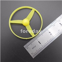 1PC 58MM 3-blade propeller with ring Plastic Marine trilobites 3 leaf helix OARS aperture=2mm D=58mm 5.8cm YELLOW *FD014