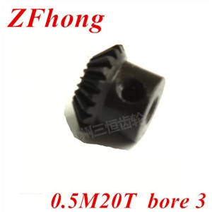 2pcs 0.5m20t   20 teeth matel Bevel Gears Module 0.5 bore 3mm