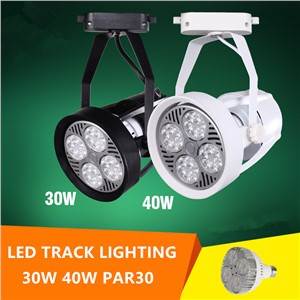 LED Track lighting with par30 30w 40w spot lamp led bulb for indoor lighting clothes jewel shop restaurant dining room
