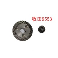 Repairing Part Metal Spiral Tooth Bevel Gear 2 in 1 Set for Makita 9553 Angle Grinder