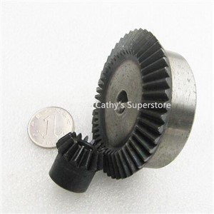 Bevel Gear 15Teeth 45Teeth ratio 1:3 Mod 2, 45# Steel Right Angle Transmission parts DIY Robot competition M=2