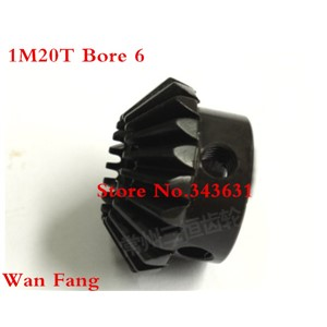 2PCS Bevel Gear  1M20T 1 Mod M=1 Modulus Ratio 1:1 Bore 6mm Steel  Right Angle Transmission parts machine parts DIY