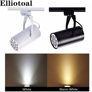 LED Track lighting 3W 7W 12W 18W Track Lighting Retail Spot Wall Lamp Rail Spotlights Replace Halogen Lamps White/Black