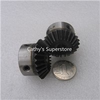 Bevel Gear a pair 24T Mod 1.5 M=1.5 ratio 1:1 Bore 8mm 12mm 45# Steel Right Angle Transmission parts tank model machine parts