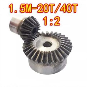 For sale 2015 Freeshipping 1:2 ratio /1.5M-20T/40T 90 Degree precision gear drive bevel gear(1.5M-20 teeth with 40 teeth)--2pcs/