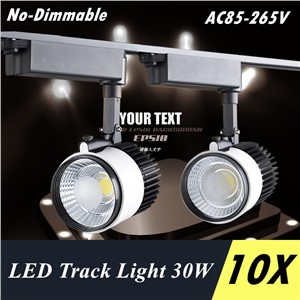 LED COB Track Light 30W Rail Lights Spotlight Clothing Shoe Shop Indoor Lighting 110V 120V 220V 240V Warm Cold Natural White