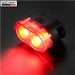 GACIRON 60Lumens Smart Safety Warning Rear Tail light Bike Tail-lamp Waterproof Led Usb Rechargeable Mountain Bike Cycling Light